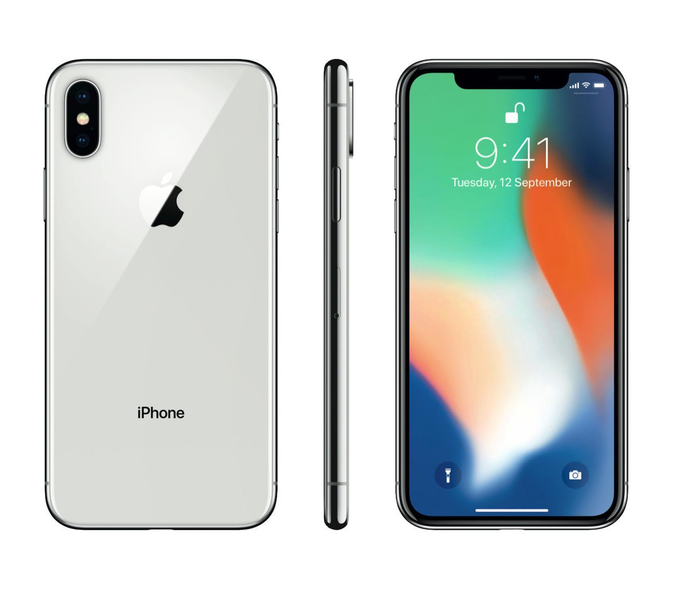 Apple iPhone X 64GB Silver Mobilais Telefons