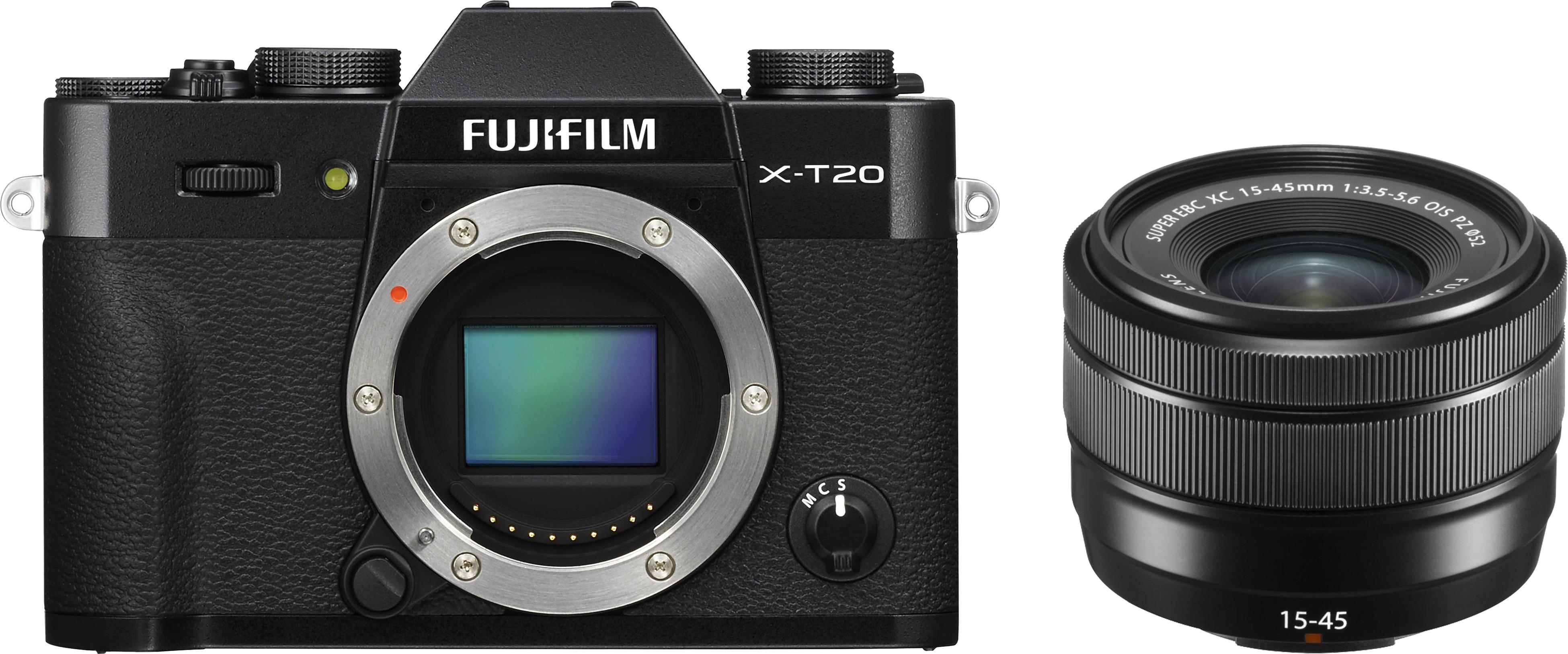 Fujifilm X-T20 + 15-45mm Kit, melns 4547410374773 Digitālā kamera