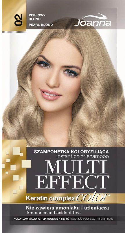 Joanna Multi Color Effect Keratin Complex - Shampoo 02 Pearl Blond 35g