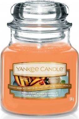 Yankee Candle Small Jar small scented candle Grilled Peaches & Vanilla 104g