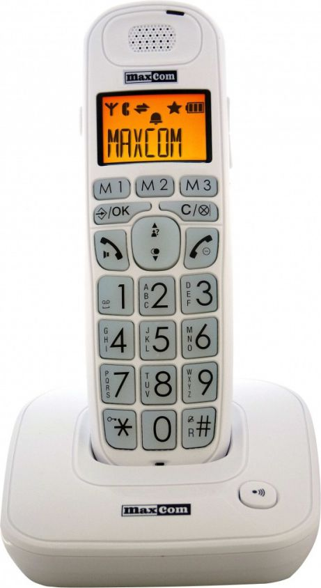 MAXCOM MC 6800 WHITE     CORDLESS DECT GAP PHONE telefons