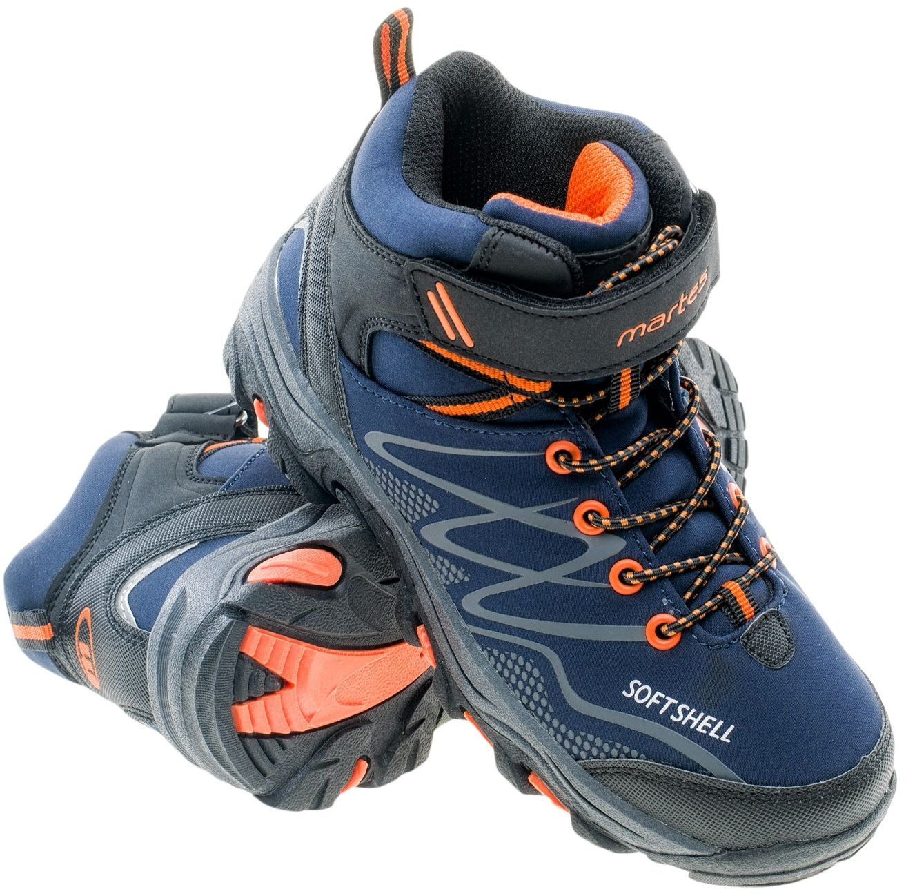 Martes Buty juniorskie RONN MID JR navy/orange/dark grey r. 30 5902786077113