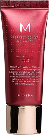 MISSHA M Perfect Cover BB Cream SPF42/PA+++ (No.21/Light Beige) 20ml tonālais krēms