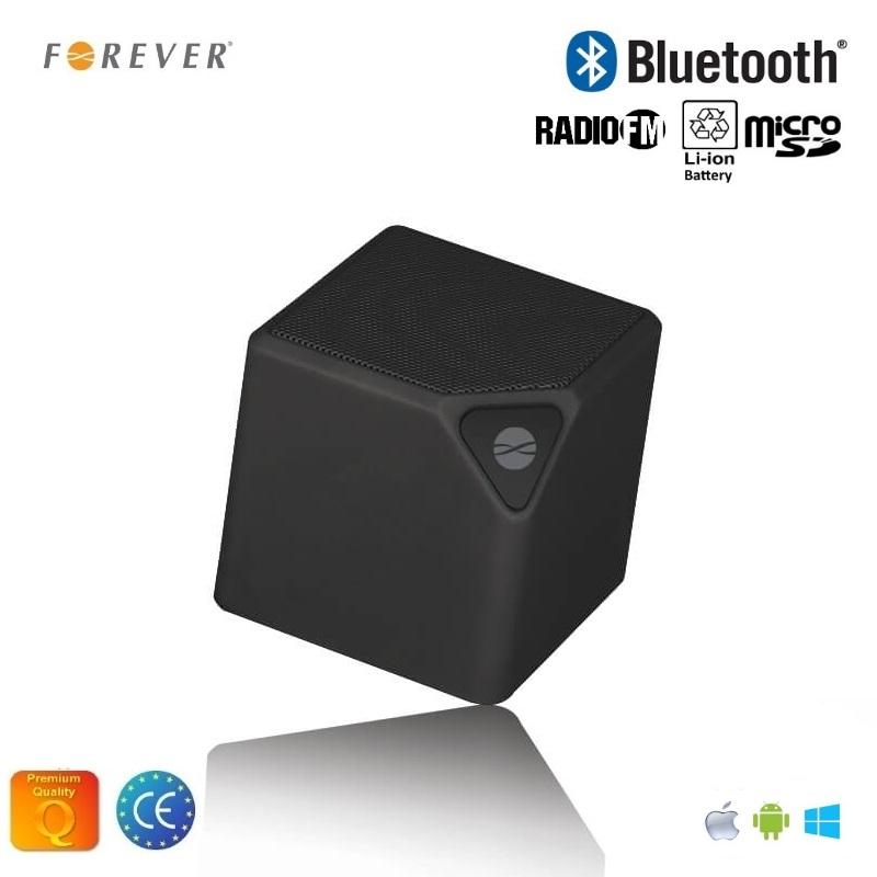 Forever BS-130 Bluetooth Bezvadu Skaļrunis ar Micro SD / FM Radio / Aux / Telefona Zvana Funkciju Melns pārnēsājamais skaļrunis
