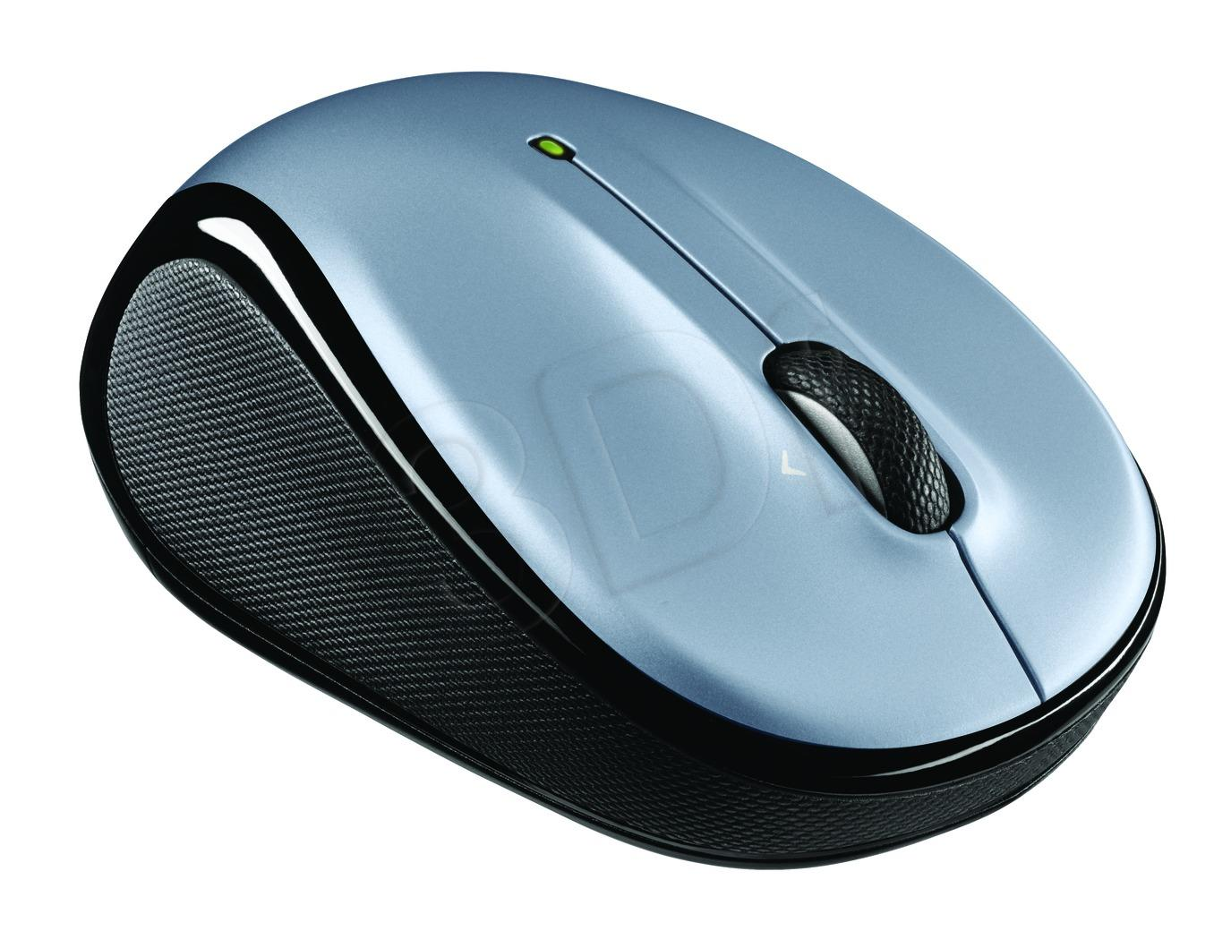 Logitech M325, Wireless light silver Datora pele