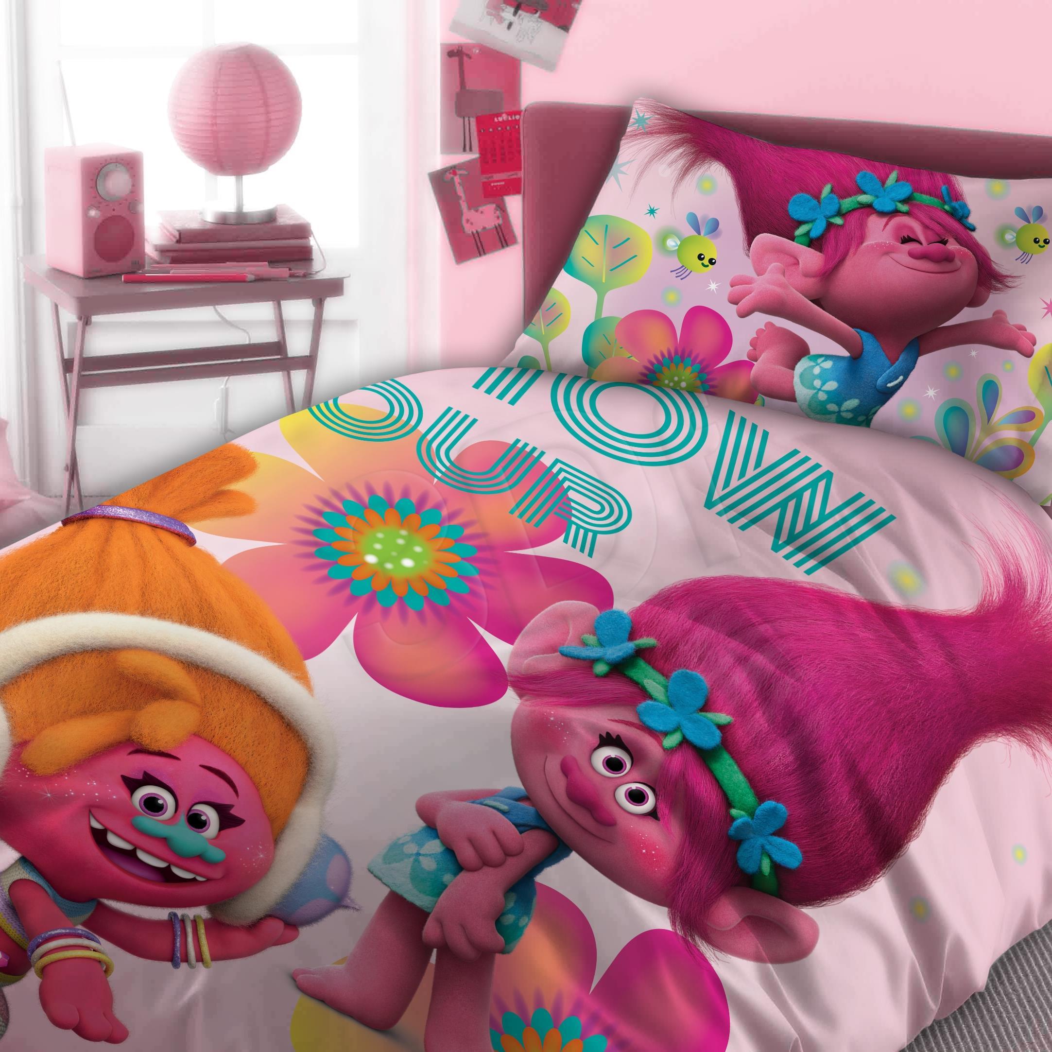 Bed linen Faro  FAO080 (140x200 cm, 70x90 cm; orange color, pink color) FAO080 Gultas veļa
