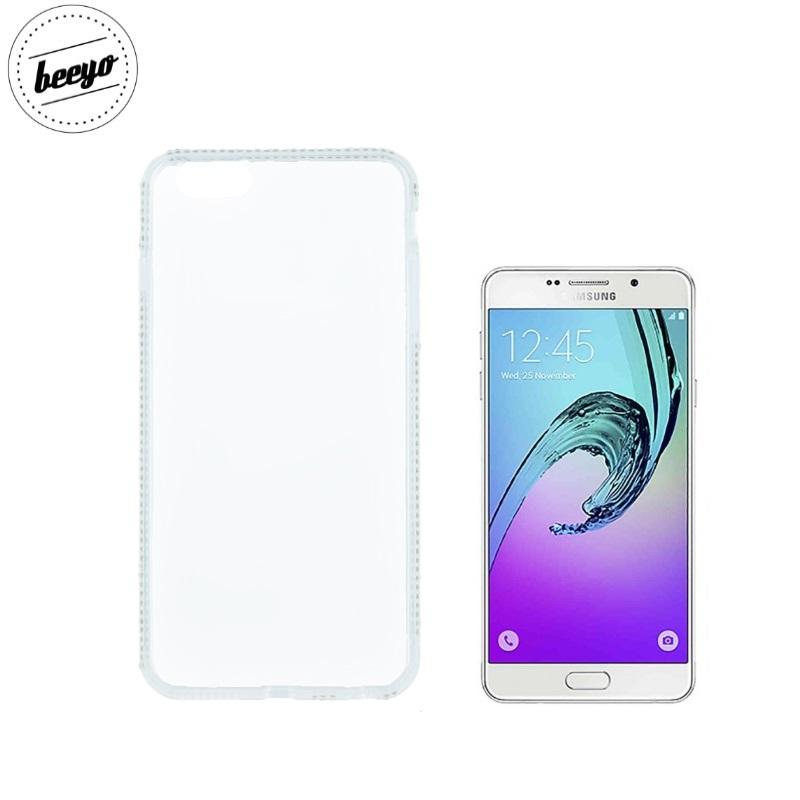 Beeyo Diamond frame super plāns silikona caurspīdīgs aizmugures maks-apvalks priekš Samsung A310F Galaxy A3 (2016) Balts