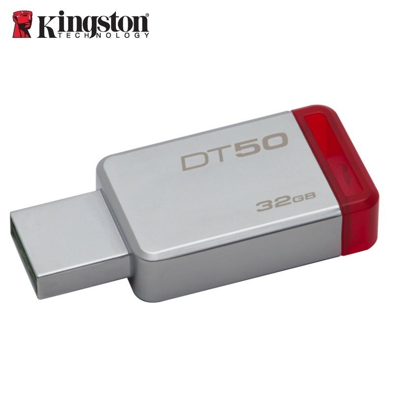 Kingston 32GB USB 3.0 DataTraveler 50 (Metal/Red) USB Flash atmiņa