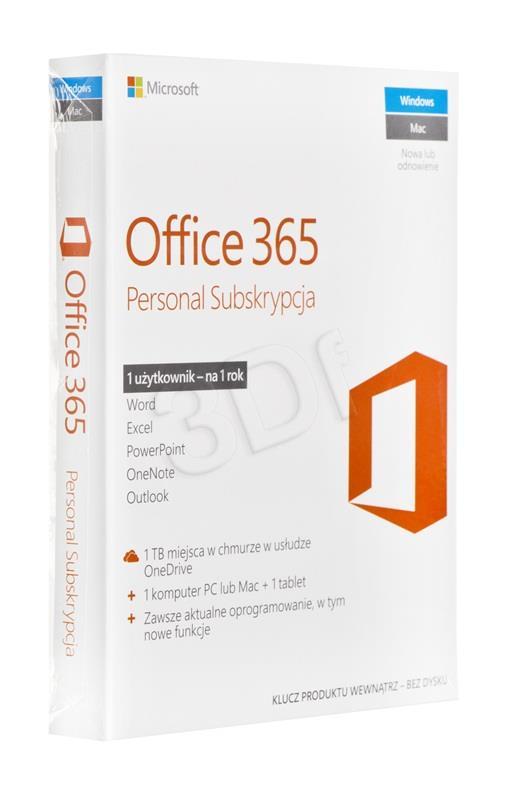 Office365 Personal PL   P2 1Y 1U/1PC   QQ2-0053