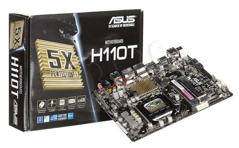ASUS H110T, H110, DDR4-2133, SATA3, M.2, HDMI, DP, mITX pamatplate, mātesplate