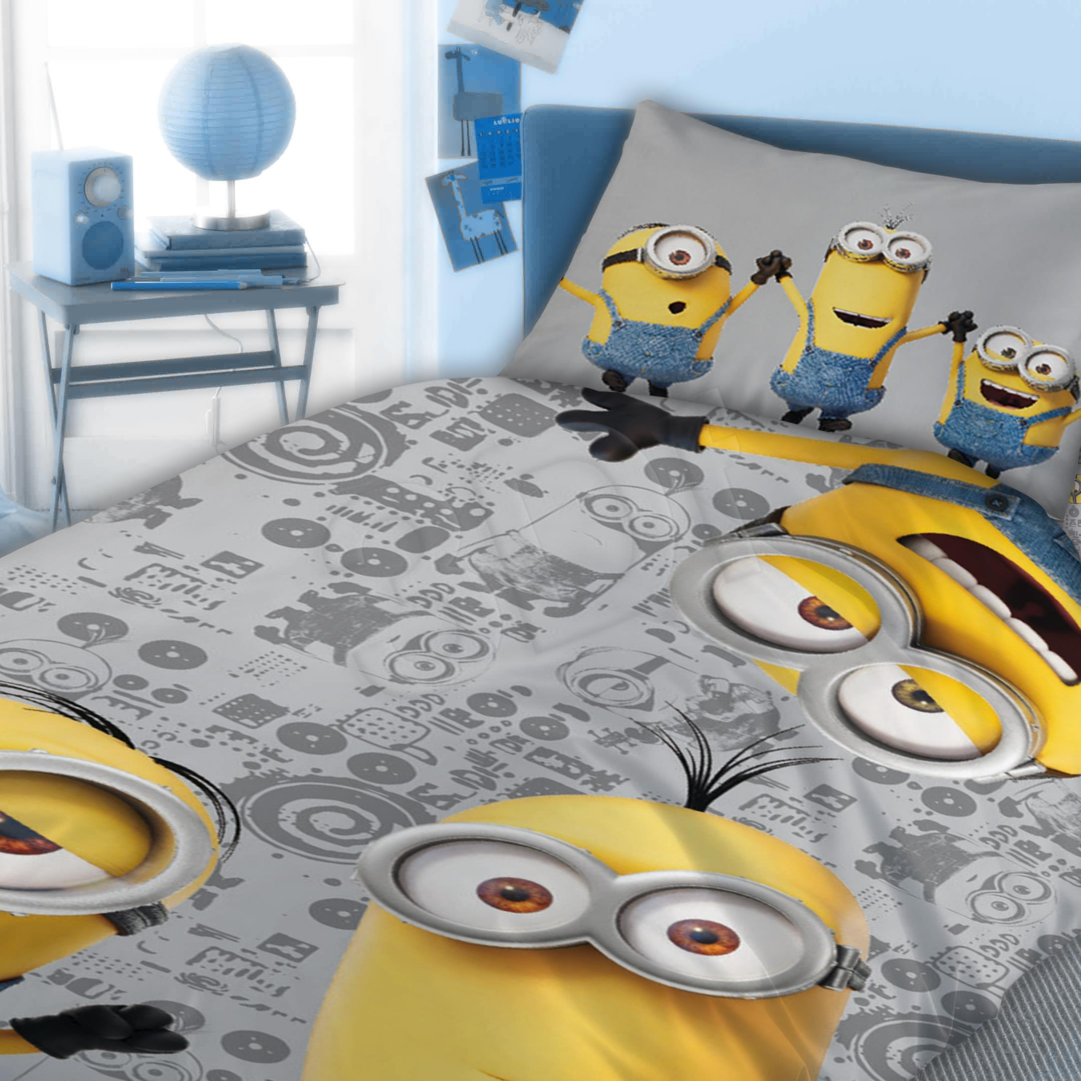 Bed linen Faro  FAO065 (140x200 cm, 70x90 cm; blue color, gray color, yellow color) FAO065 Gultas veļa