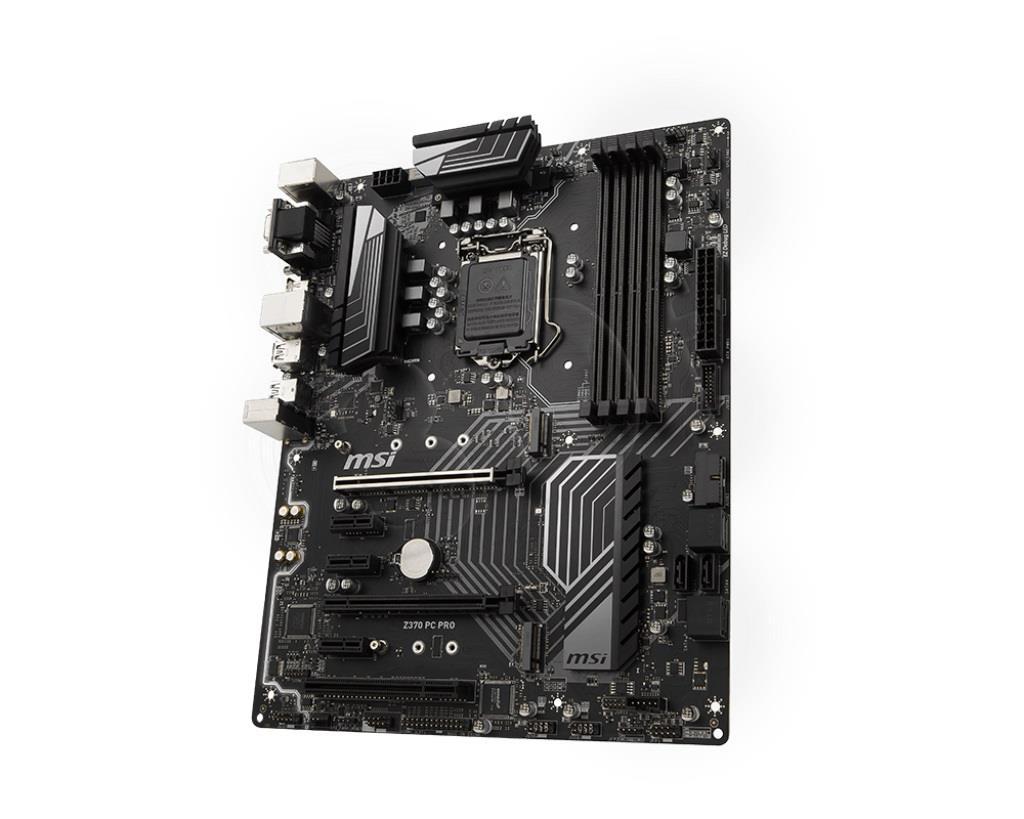 MSI Z370 PC PRO s1151 4DDR4 8USB3/M.2 ATX pamatplate, mātesplate