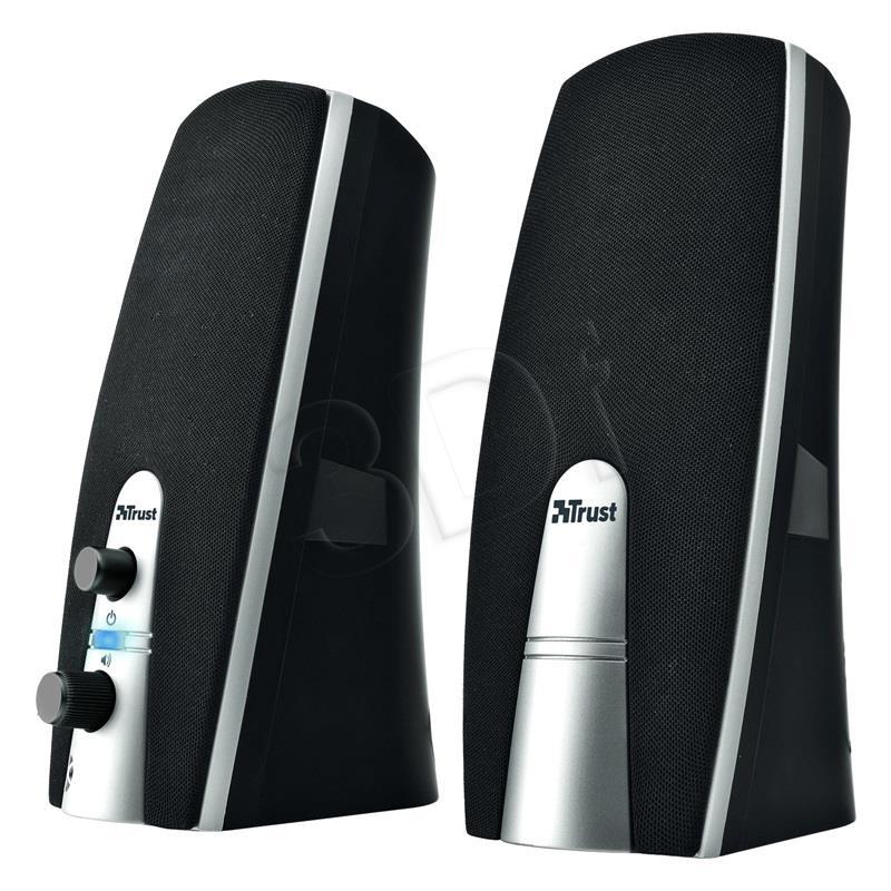 Trust MiLa 2.0 black/silver datoru skaļruņi