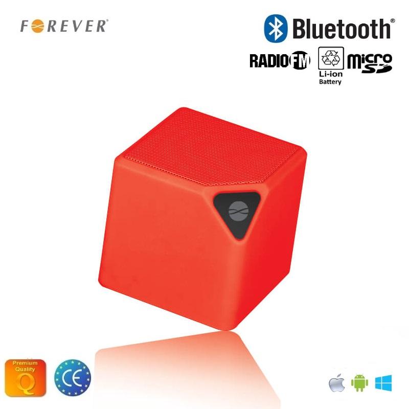 Forever BS-130 Bluetooth Bezvadu Skaļrunis ar Micro SD / FM Radio / Aux / Telefona Zvana Funkciju Sarkana pārnēsājamais skaļrunis