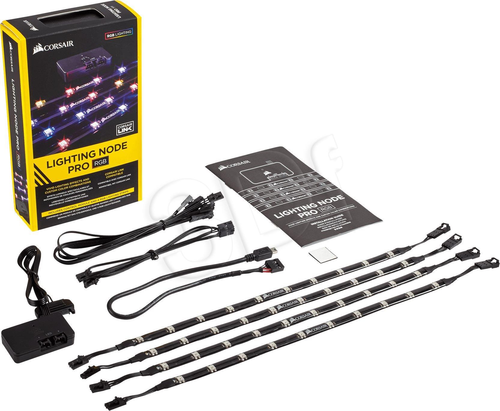 Corsair Lighting Node Pro USB 2.0 RGB LED (CL-9011109-WW) aksesuārs datorkorpusiem