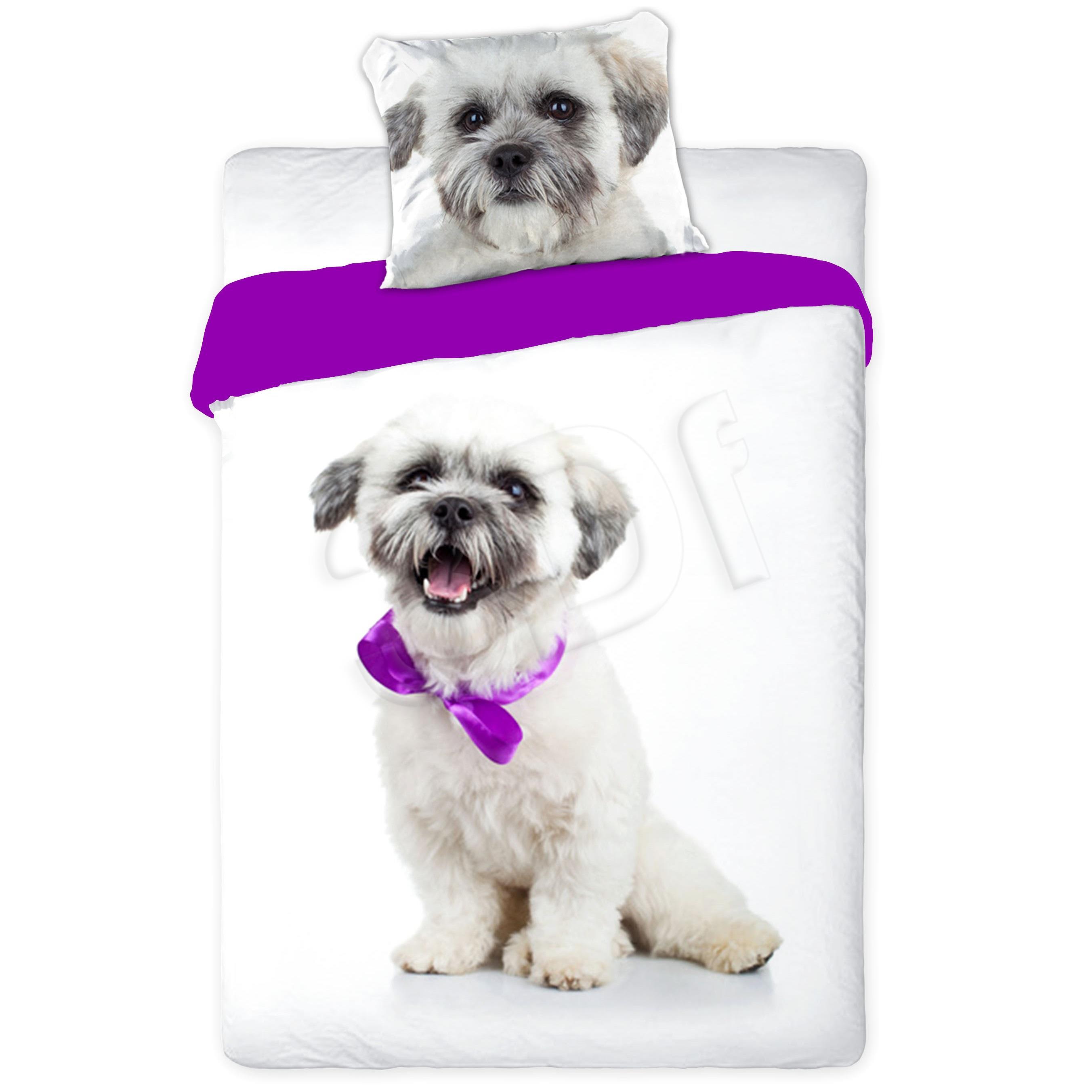 Bed linen Faro  FAO060 (160x200 cm, 70x80 cm; purple color, white color) FAO060 Gultas veļa