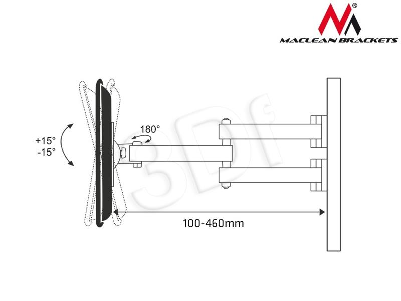 Maclean TV 22-50     MC-650 35kg TV stiprinājums