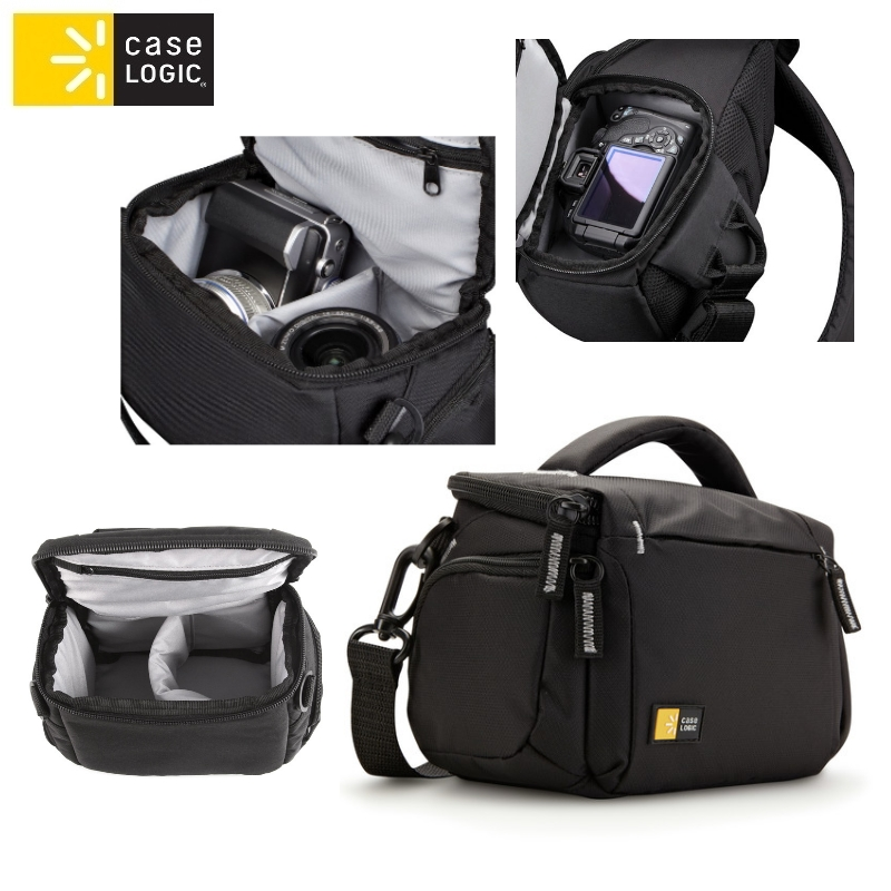 Case Logic TBC405K universāla soma spoguļfotokamer m ar rokt soma foto, video aksesuāriem