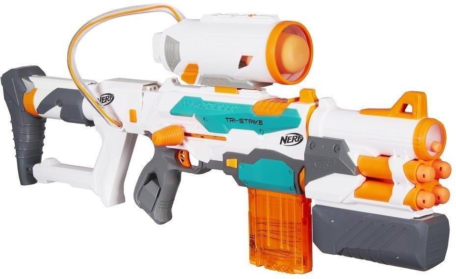 Hasbro Nerf N-Strike Modulus Tri-Strike Blaster, Nerf Gun Rotaļu ieroči