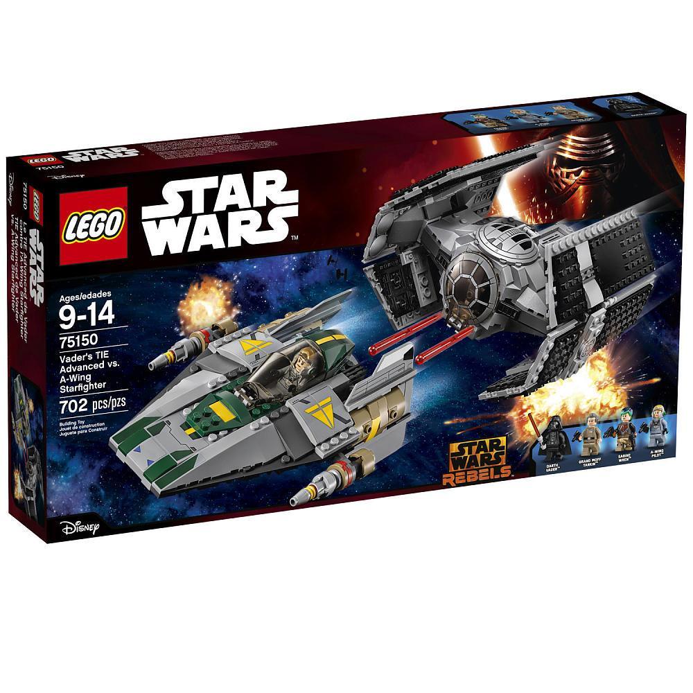 LEGO Star Wars Vader's TIE Advanced vs. A-Wing Starfighter 702pcs (75150) LEGO konstruktors