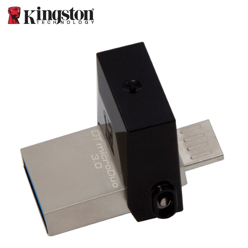Kingston Flashdrive 64GB DT microDuo USB 3.0 micro&USB OTG USB Flash atmiņa