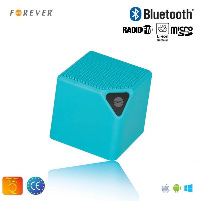 Forever BS-130 Bluetooth Bezvadu Skaļrunis ar Micro SD / FM Radio / Aux / Telefona Zvana Funkciju Zila pārnēsājamais skaļrunis