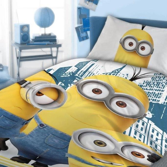 Bed linen Faro  FAO066 (140x200 cm, 70x90 cm; blue color, white color, yellow color) FAO066 Gultas veļa