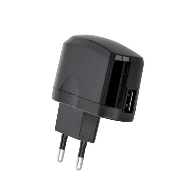 Setty USB 1A black (GSM029036) iekārtas lādētājs