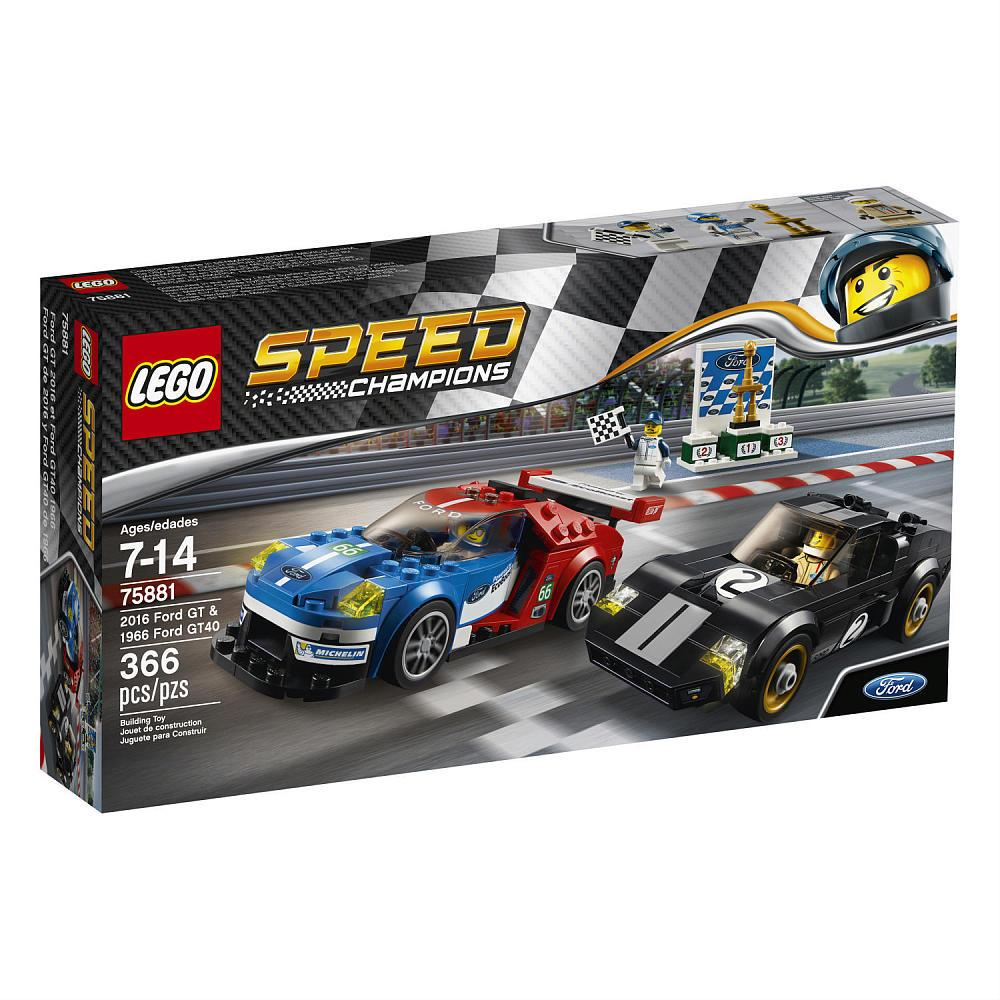 Lego Speed Champions 75881 2016 Ford GT & 1966 Ford GT40 LEGO konstruktors