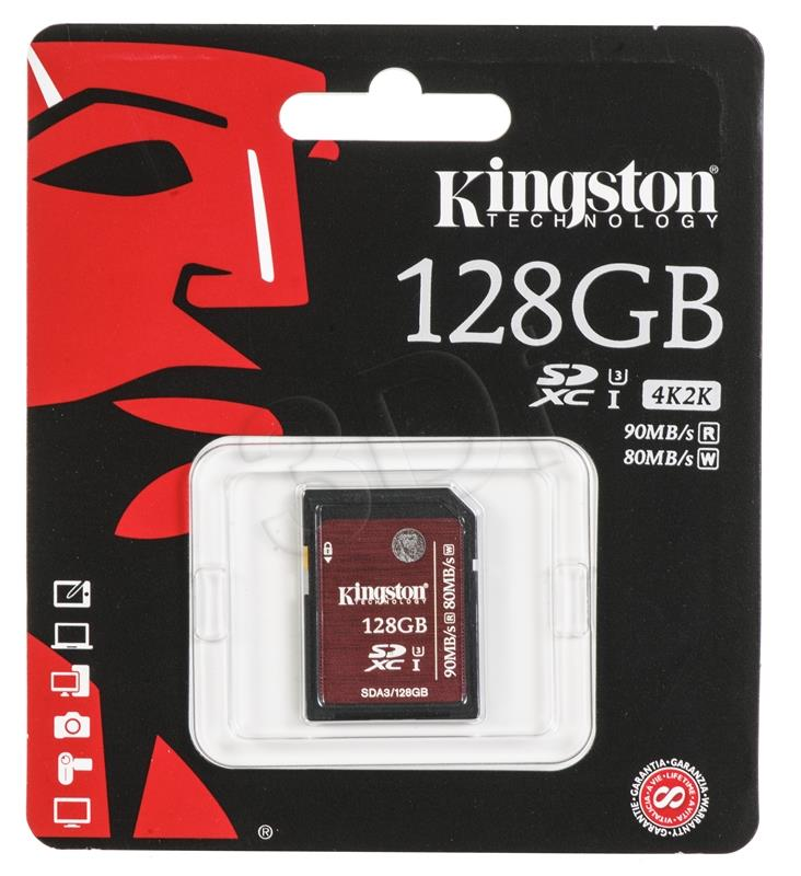 KINGSTON 128GB SDXC UHS-I Speed Class 3 atmiņas karte