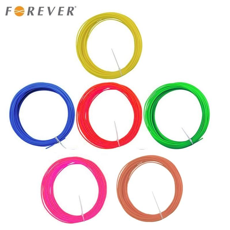 Forever ABS 1.75mm Plastikāts 6in1 Sarkans / Zils / Zaļš / Dzeltens / Brūns / Roz  3m katra krāsa priekš 3D Drukas Pildspalvas 3D printēšanas materiāls