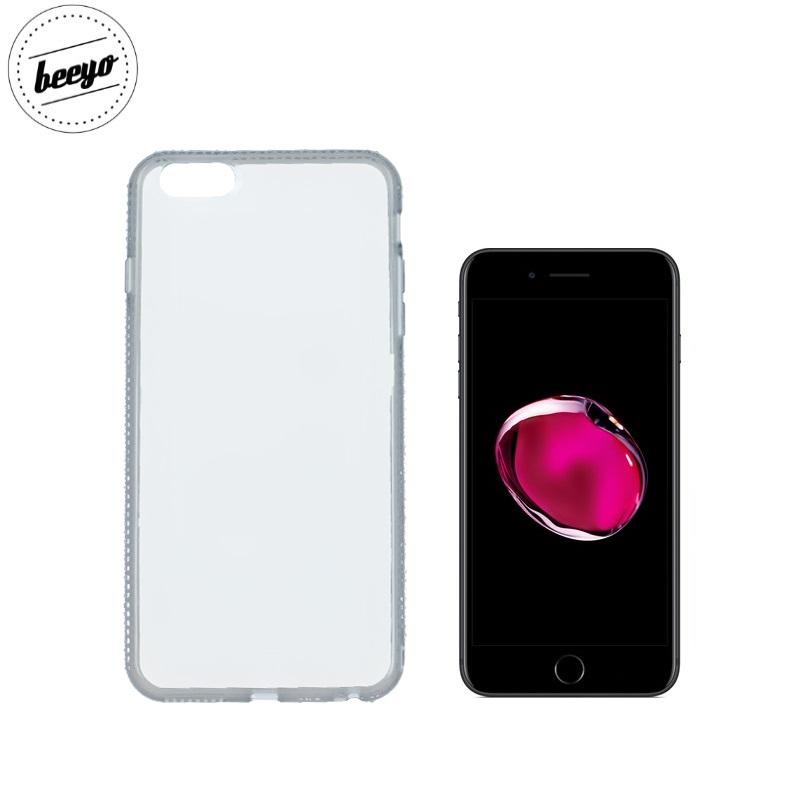 Beeyo Diamond frame super plāns silikona caurspīdīgs aizmugures maks-apvalks priekš Apple iPhone 7 (4.7inch) Pelēks