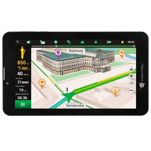 Navitel T700 3G Navi Tablet 7/1.3 GHz/1GB/16GB/WI-FI/3G/DUAL SIM/ANDROID7.0+NAVITEL Maps Lifetime Up Navigācijas iekārta
