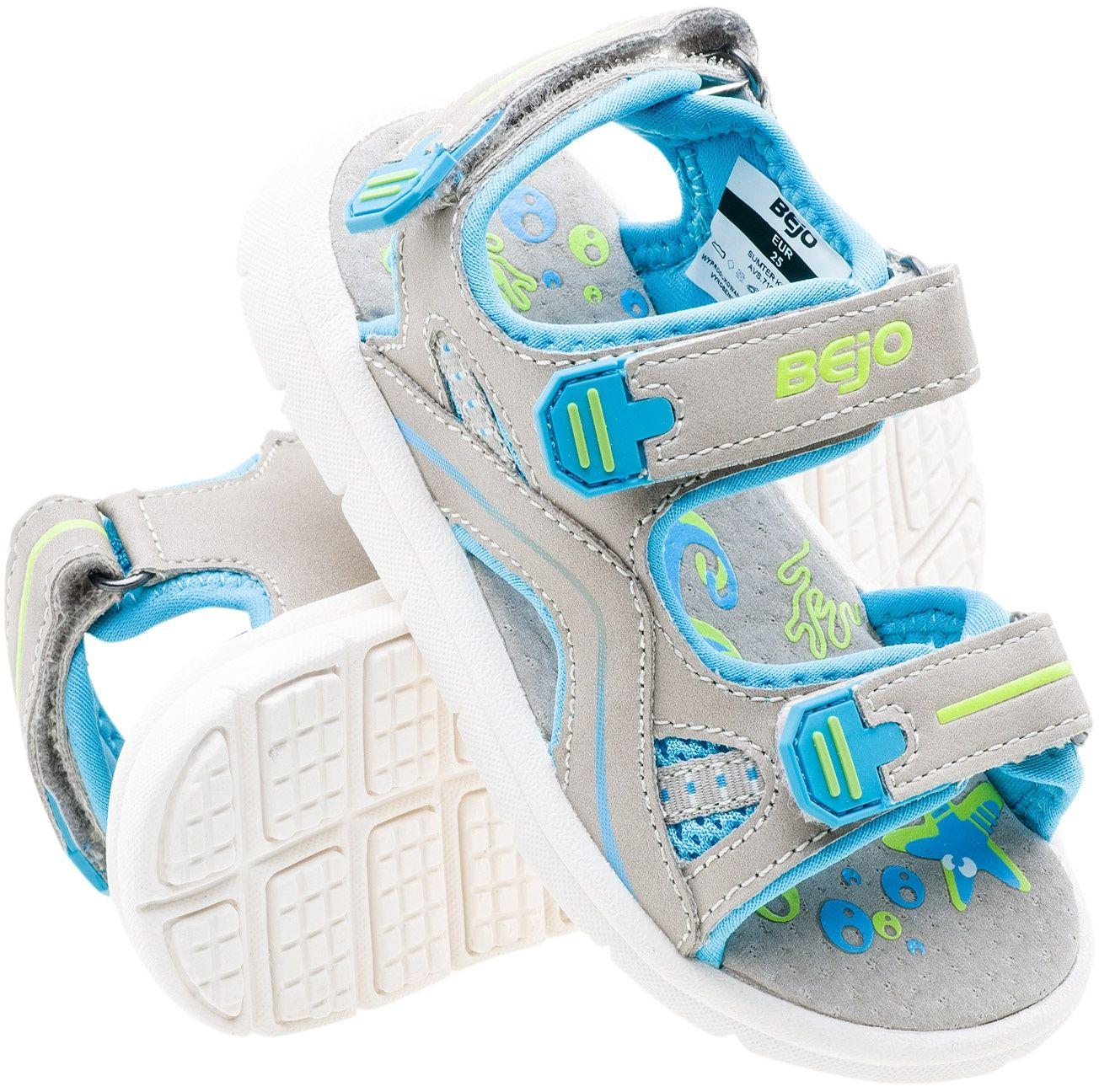 BEJO Sandaly dzieciece Sumter Kids Grey/Blue/Light Lime r. 22 4013886