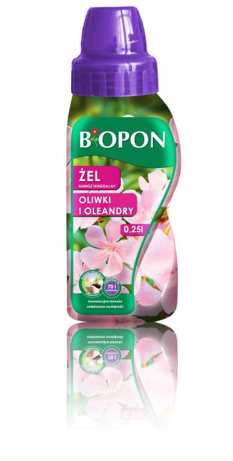 BIOPON Nawoz mineralny w zelu do oleandrow i oliwek 0,25L (1304) B1304