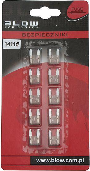 Blow Bezpiecznik samochodowy MINI 5A 10 sztuk 1411 1411#