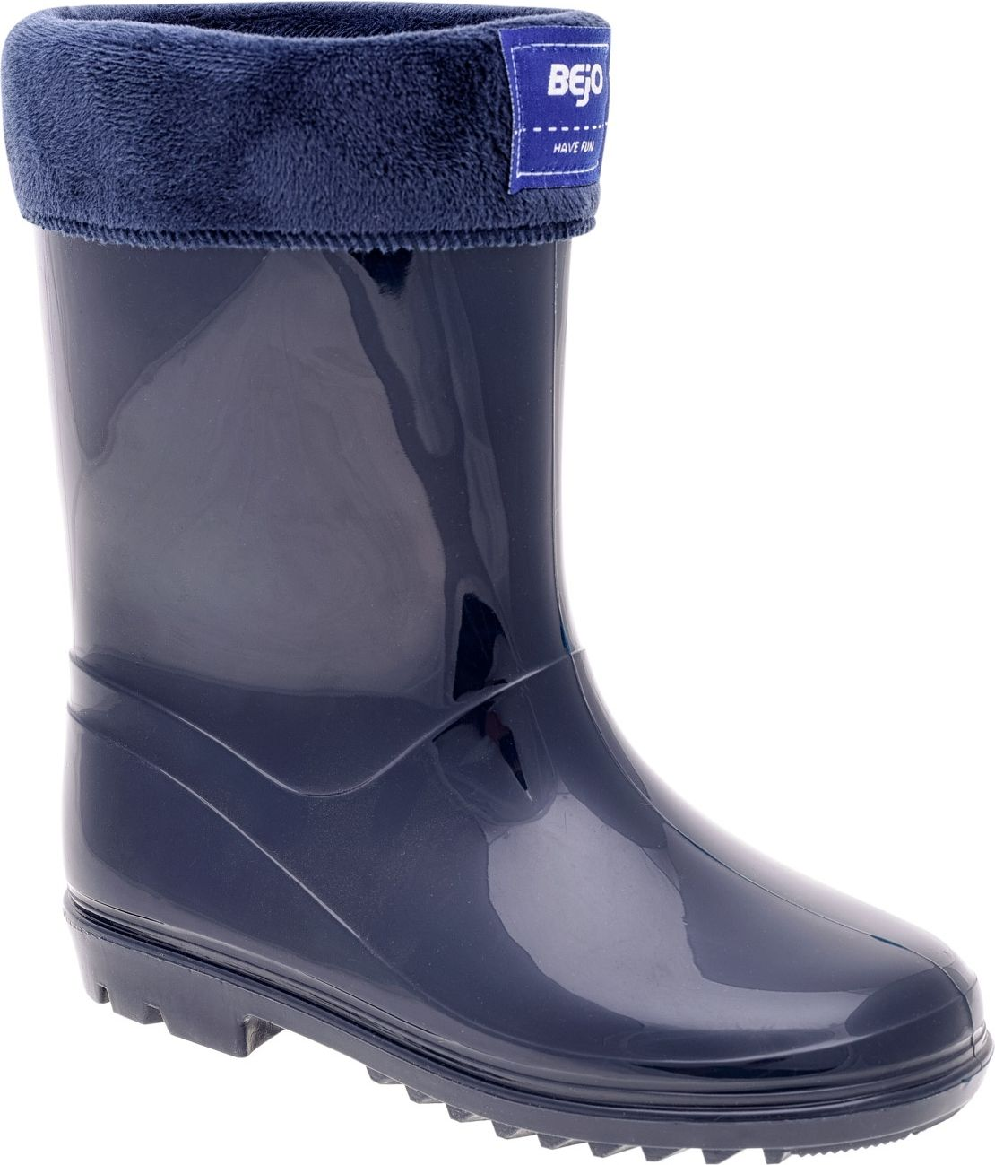 BEJO Kalosze dzieciece Warm Wellies JR Medieval Blue r. 33 5902786087433