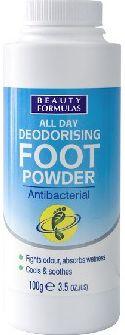 Beauty Formulas Feet Antibacterial foot powder 100g Roku, pēdu kopšana