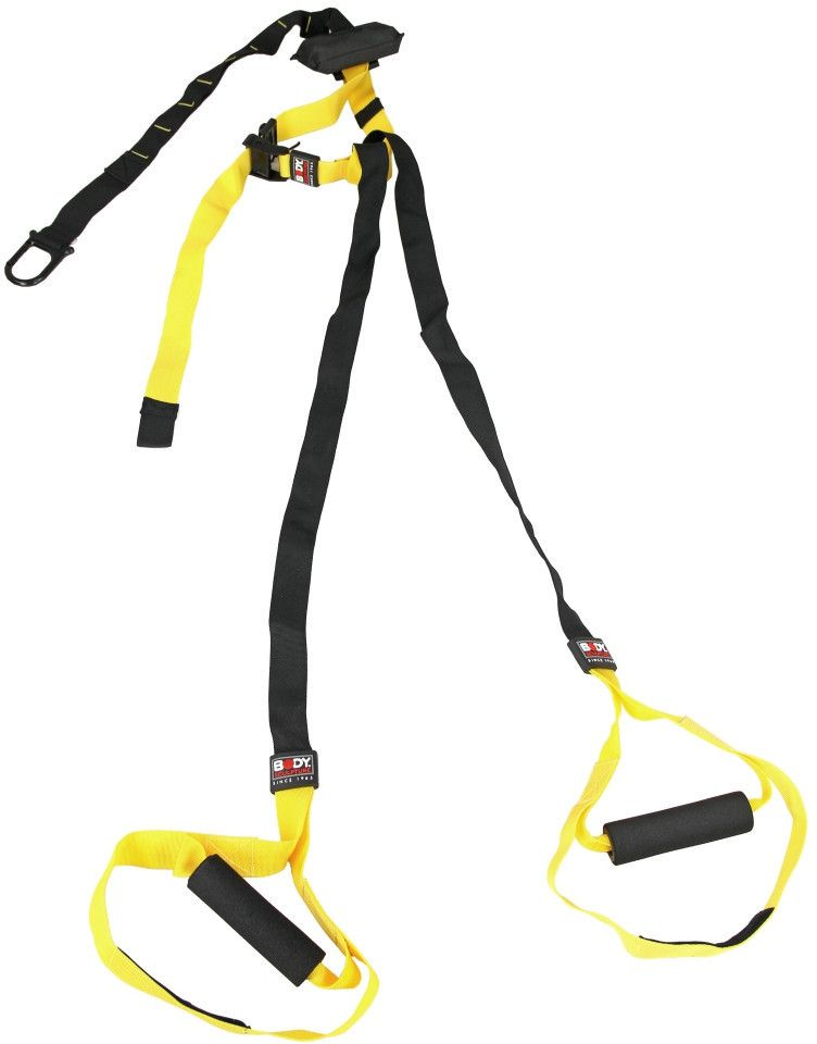 Body Sculpture Pasy do cwiczen Total Body Suspension Trainer T.B.S.T. czarno-zolte (23895) 23895-uniw Trenažieri