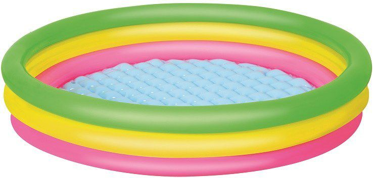 Bestway Basen dmuchany trzy kolory 152x30 cm (51103) 12699 Baseins