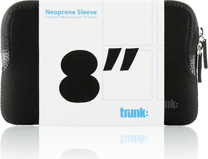 Trunk 7-8 tablet Sleeve Black Neoprene planšetdatora soma