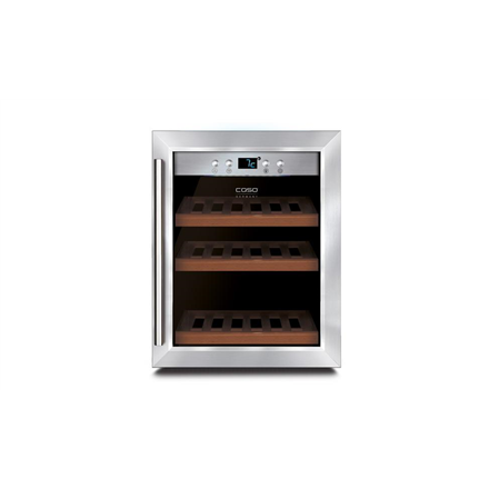 Caso Wine cooler WineSafe 12 Classic Table, Bottles capacity 12, Cooling type COMPRESSOR TECHNOLOGY, Stainless Steel 00622 Vīna skapji