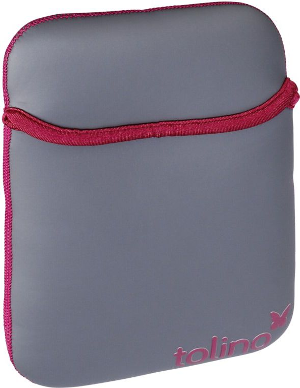 bag for tabletu Tolino Uniwersalne Szaro-Red (NEOPREN SW ROT) planšetdatora soma