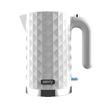 Camry CR 1269  Standard kettle, Plastic, White, 2200 W, rotational base, 1.7 L Elektriskā Tējkanna