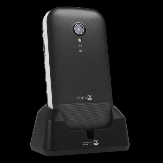 DORO 2404 Dual SIM black/white EE LV LT Mobilais Telefons
