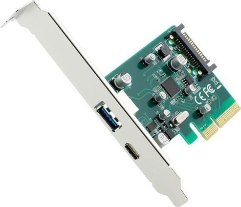 Gembird  2-port USB 3.1 PCI-Express add-on card (type-A + type-C), with extra lo karte