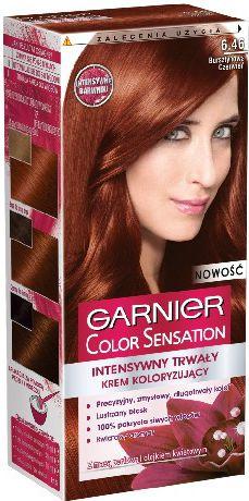 Garnier Color Sensation Krem koloryzujacy 6.46 Red Brown- Bursztynowa czerwien 0341038