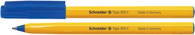 Schneider BALLPOINT PEN TOPS 505 F BLUE HOUSING YELLOW (SR150503)