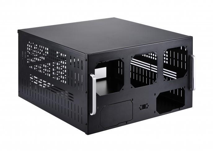 Spire Mining Case RACKSPER 4U, black Datora korpuss