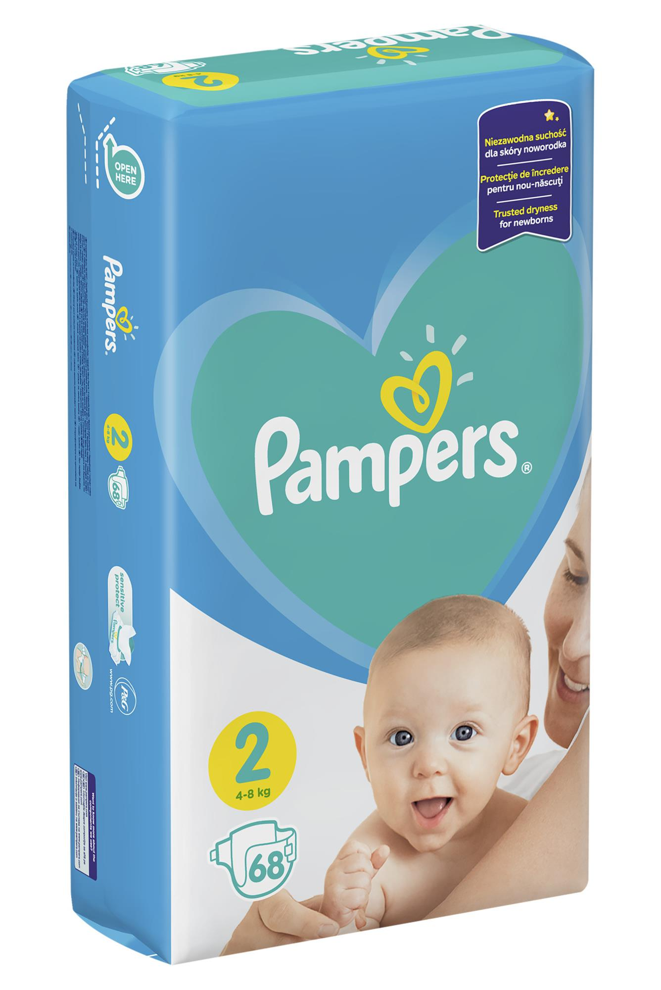 Pampers Diapers Mini 2 4-8 kg 68 pcs